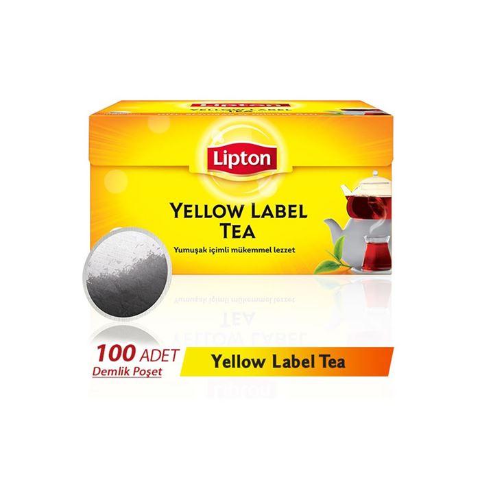 Lipton Yellow Label Demlik Poşet Çay 100'lü resmi
