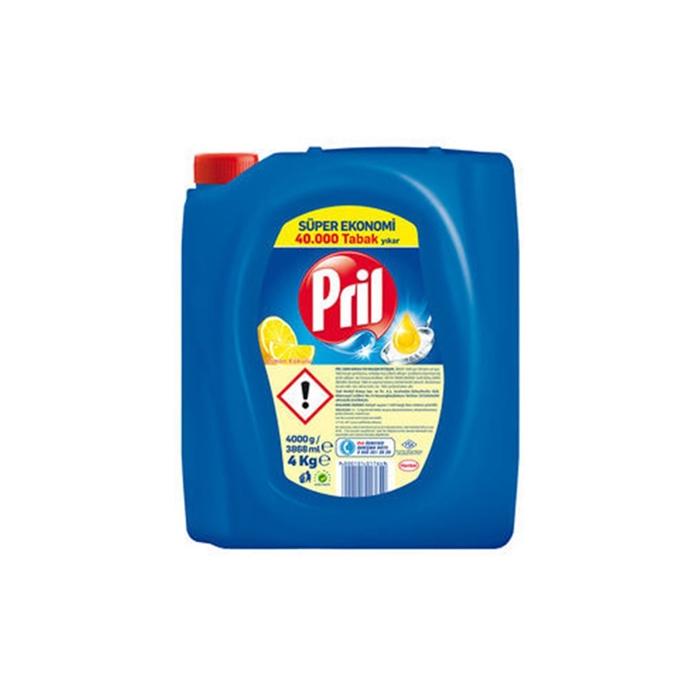 Pril Sıvı Bulaşık Deterjanı Elde 4kg  Limon 4'lü Koli resmi