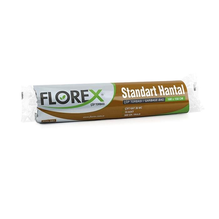 Florex Çöp Torbası Hantal Standart 10Adet*10Rulo resmi