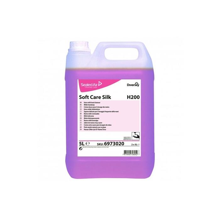 Diversey Orion Soft Care Silk H200 Pembe Sedefli Parfümlü Hassas Ciltlere Uygun El Yıkama Sıvısı 5,10kg(2'li koli) resmi