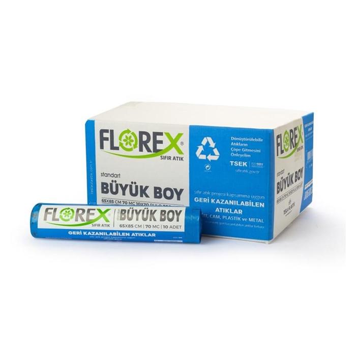 Florex Geri Kazanılabilen Atık Torbası Standart Büyük 10Adet*20Rulo resmi