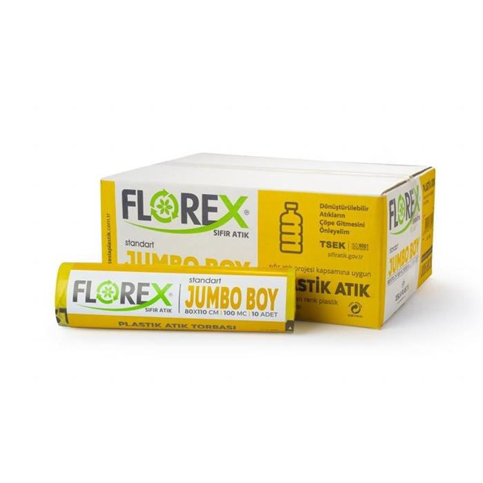 Florex Plastik Atık Torbası Standart Jumbo 10Adet*10Rulo resmi