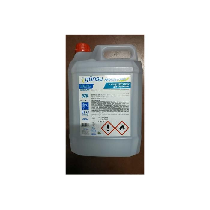 Günsu Lopex 525 Alkol Bazlı El Dezenfektanı 5lt 4'lü Koli resmi