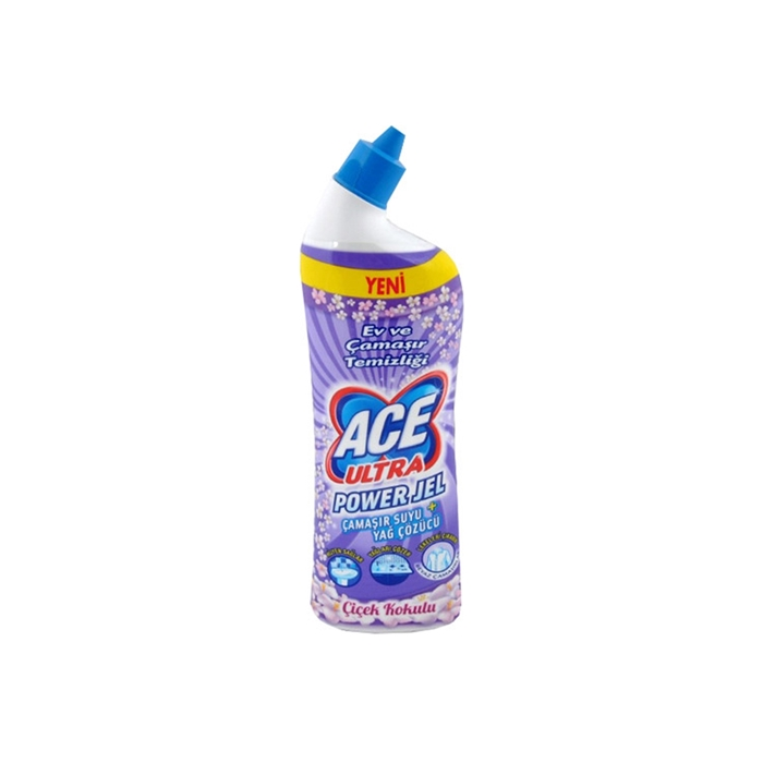 Ace Ultra Power Jel Çiçek Kokulu 810 ml 12'li Koli resmi