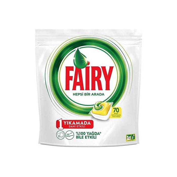 Fairy Hepsi Bir Arada Bulaşık Makinesi Deterjanı Tableti Limon Kokulu 70 Yıkama 3'lü Koli resmi