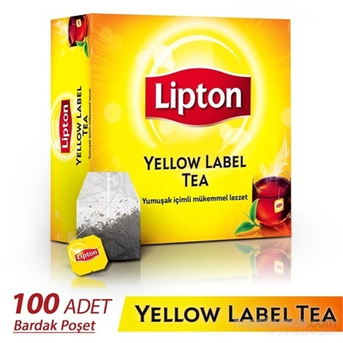 Lipton Yellow Label Bardak Poşet Çay 100'lü 6'lı Koli resmi